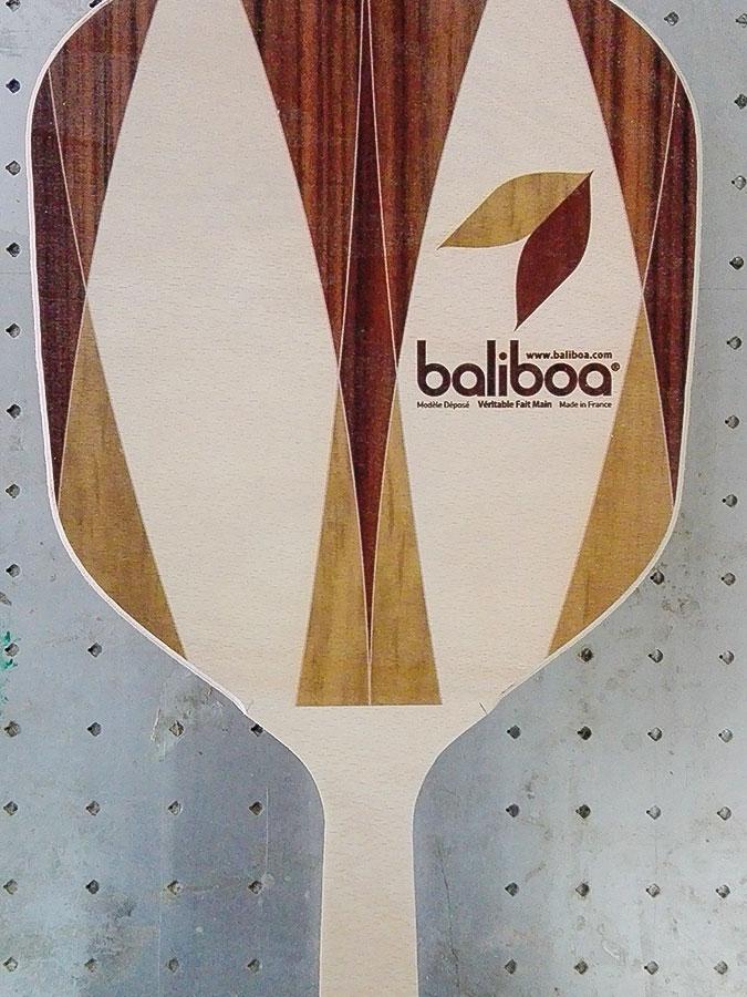 Handmade wood frescobol - Baliboa